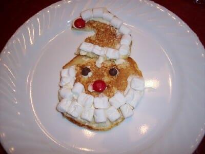 santa pancakes