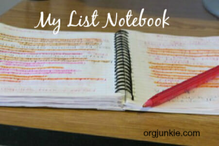 My List Notebook and batching tasks