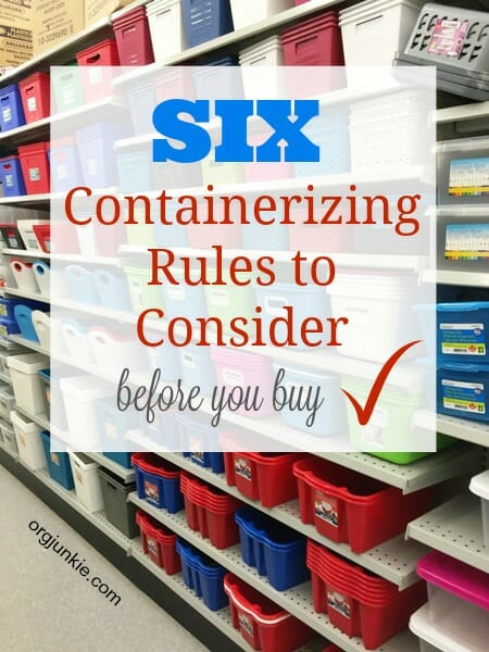 Six Containerizing Rules to Consider Before You Buy
