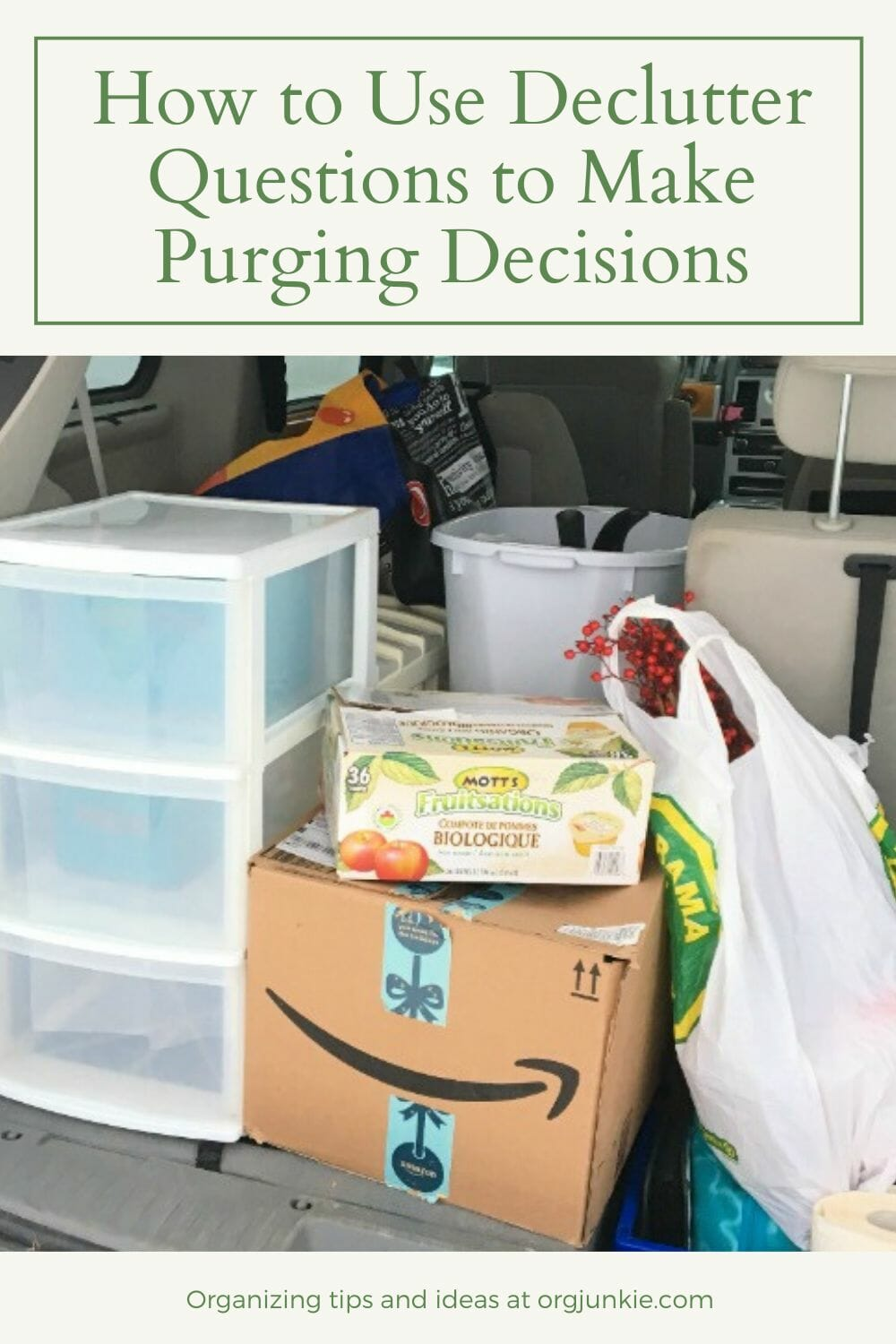 How to Use Declutter Questions to Make Purging Decisions