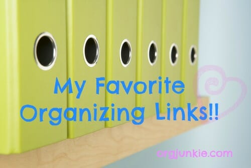 my favorite organizing links for April 17th plus a call for contributors at I'm an Organizing Junkie blog