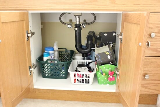 bathroom cabinet before