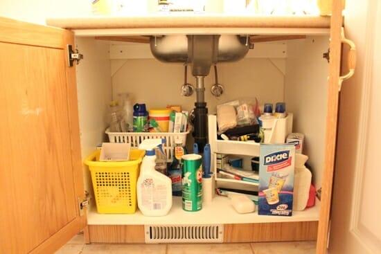 under sink before