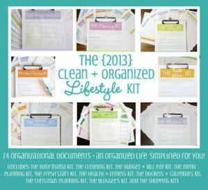 clean+organized lifestyle kit