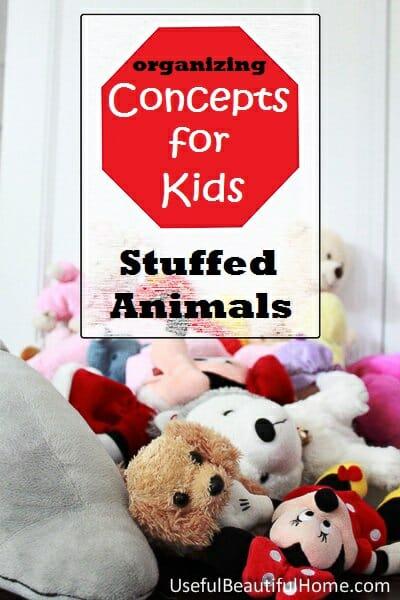 Organizing Stuffed Animals at orgjunkie.com