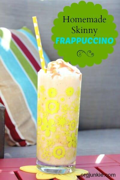 homemade skinny coffee frappuccino