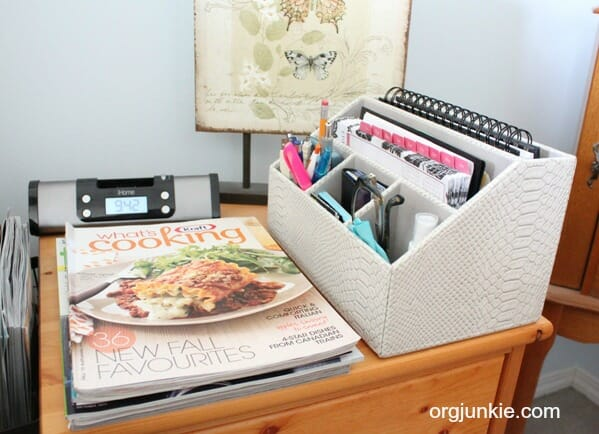 portable home office in the bedroom