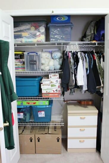 nightstand in the closet 2