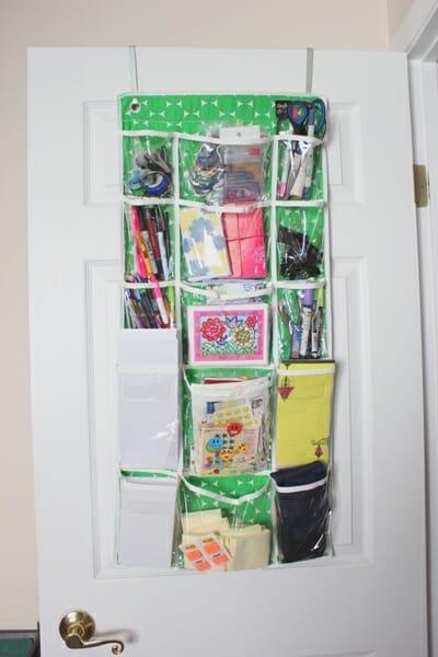 office supplies on door