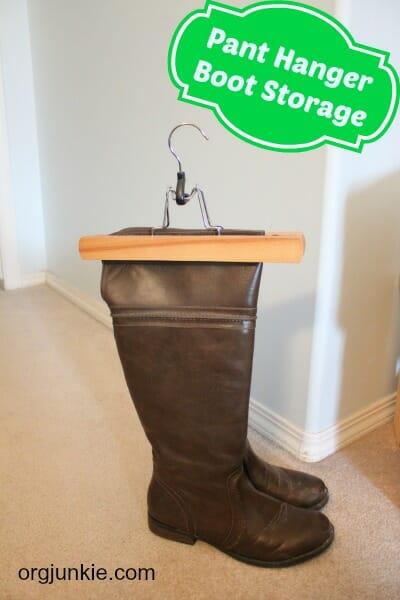 pant hanger boot storage 1
