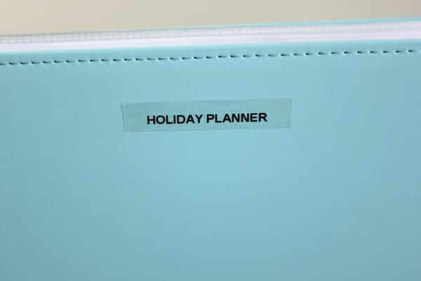 Holiday Planner 1