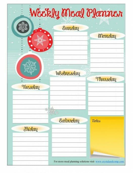 December-Menu-Planner