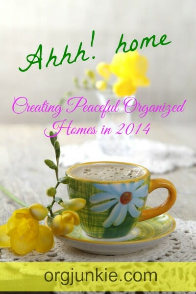 Creating Peaceful Organized Homes in 2014 - The Clutter Creep and Why We Allow It to Happen