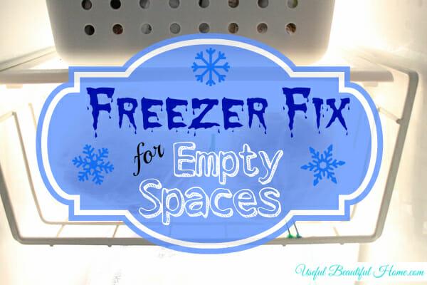 Freezer Fix for Empty Spaces
