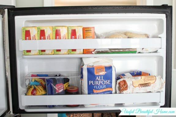 Freezer door organized