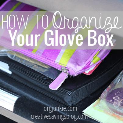 how to organize a glove box