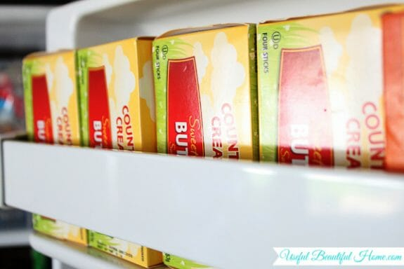 How to organize a top freezer and still have room for stockpiled items!