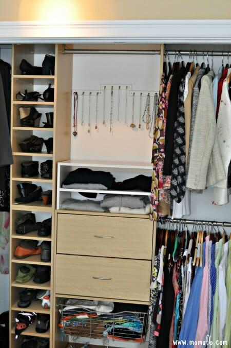 Organizing Necklaces- entire closet