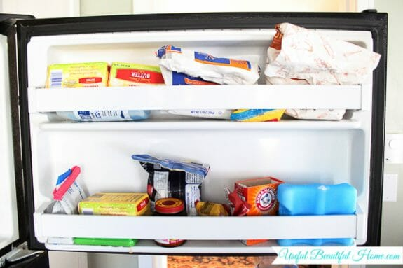 Organizing a Top Freezer Door