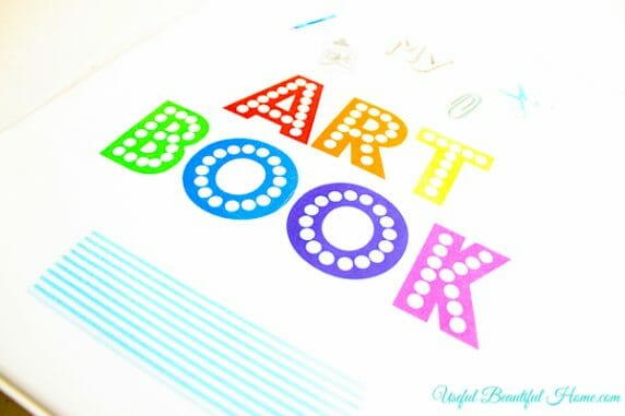 Cute printable for organizing children's artwork