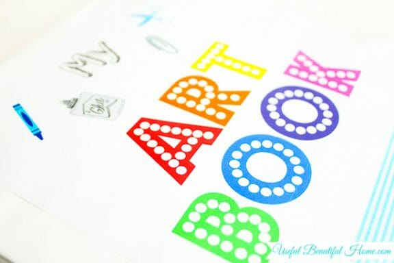 Free Printable! And it helps organize children's artwork and school papers in a brilliant way!