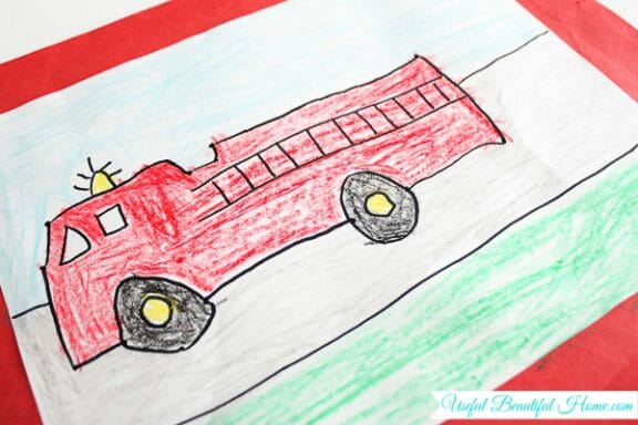 Some art your child brings home is worthy of framing for a playroom or bedroom space