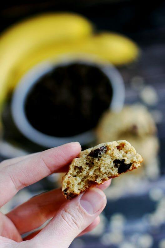 peanut butter chocolate chip banana oatmeal cookies 4