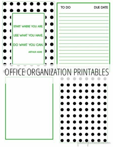 Free Office Organization Printables