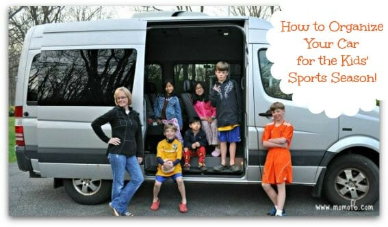 How to Organize Your Car for the Kids Sports Season