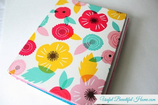 Mini binders work great to organize cards from Mother's Day, birthdays, anniversaries, etc.