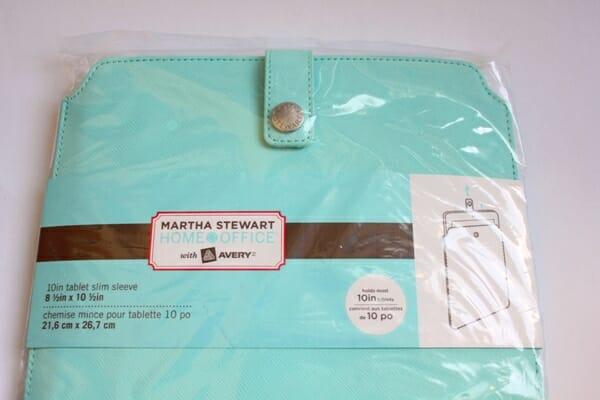Martha Stewart Tablet Sleeve
