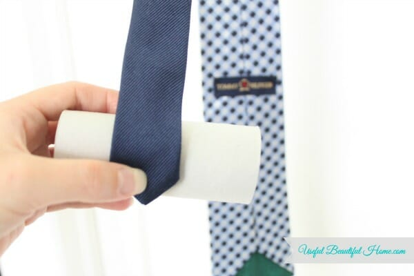 Start the tie rolling at the skinny end