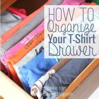 How to Organize Your T-Shirt Drawer