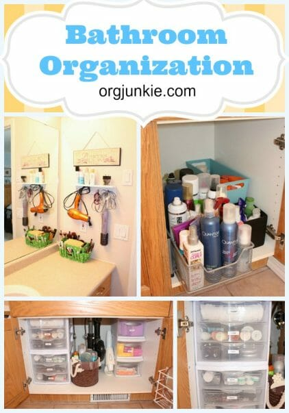 Bathroom Organization at orgjunkie.com