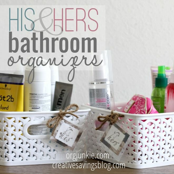 His and Her Bathroom Organizers at orgjunkie.com