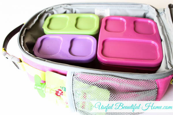 Pack as much in the lunchbox as possible the night before school