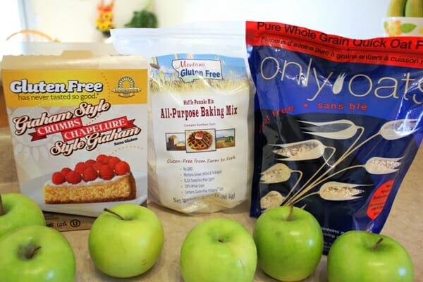 Gluten Free Apple Crisp ingredients