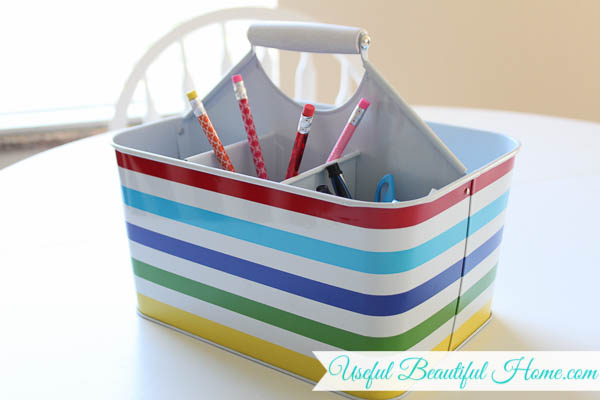 Homeschool Caddy keeps things organized at the table