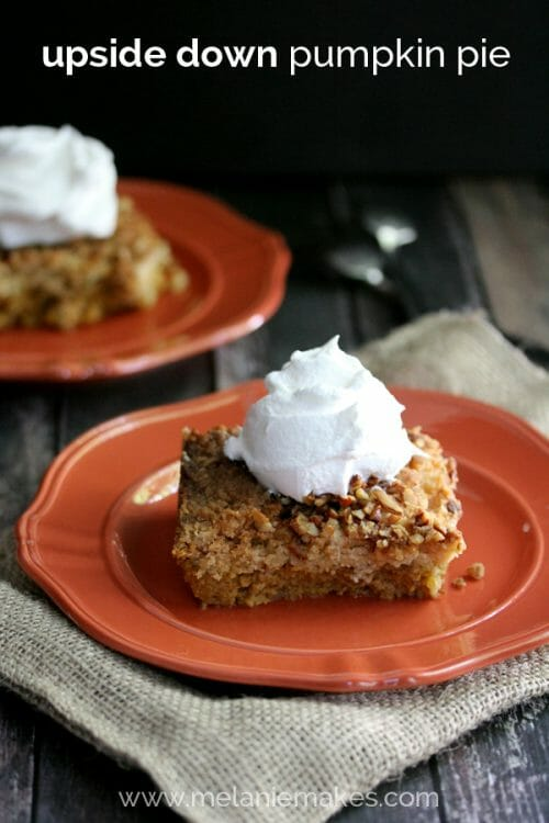 upside down pumpkin pie recipe