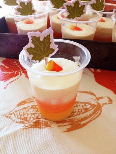 Candy Corn Cream Cups