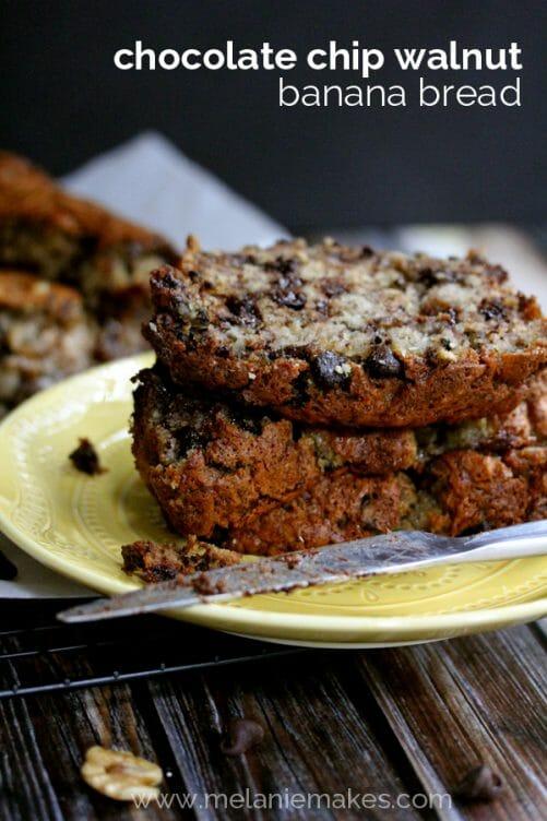 Chocolate Chip Walnut Banana Bread recipe