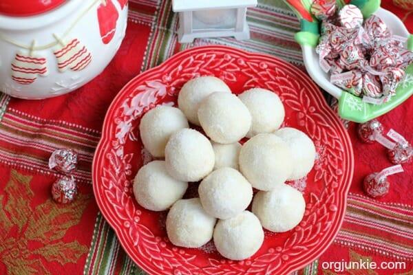 Cherry Snowball Christmas Cookies 2