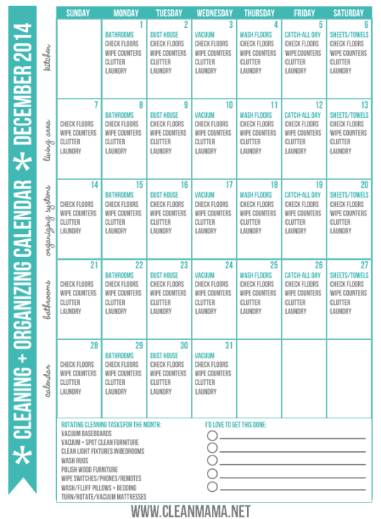 December-2014-Clean-Organized-Calendar-via-Clean-Mama