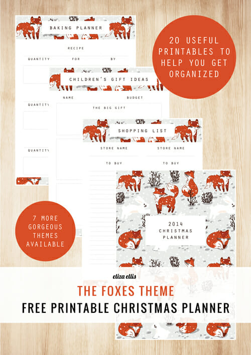 Foxes-Theme-Printables