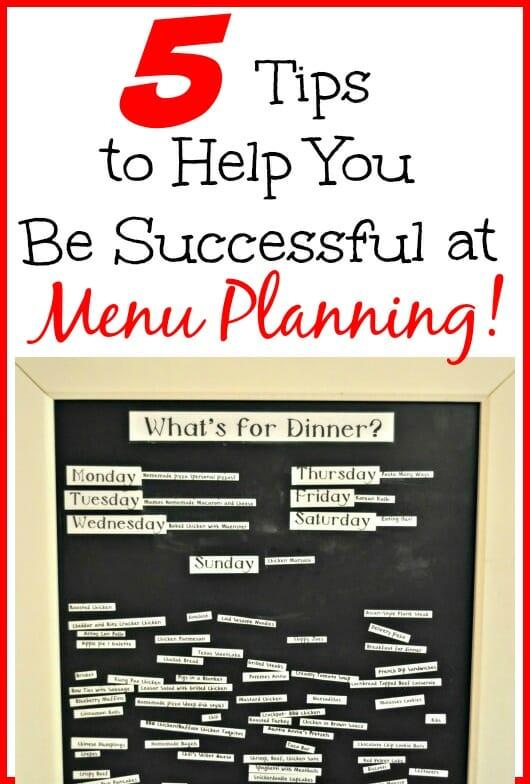 5 Tips for Menu Planning