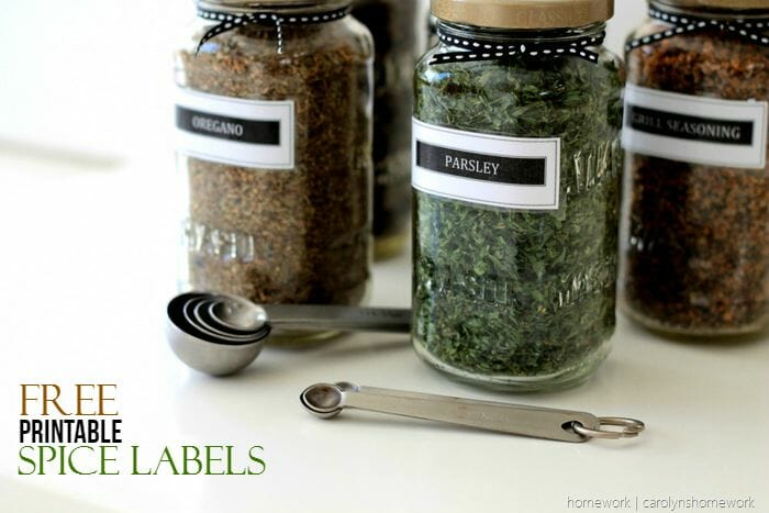 Free Printable Spice Labels