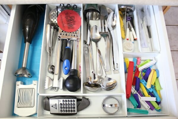 Organized drawer after