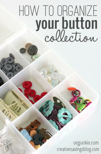 How to Organize Your Button Collection at I'm an Organizing Junkie blog