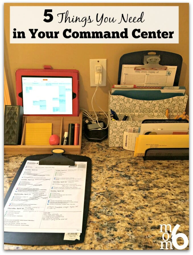 5 Things You Need in Your Command Center at I'm an Organizing Junkie blog