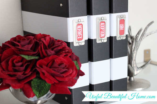 DIY trendy labels to organize your space